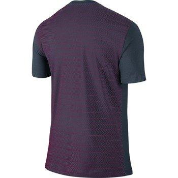 koszulka tenisowa męska NIKE ROGER SHORTSLEEVE V-NECK TEE / 688576-460