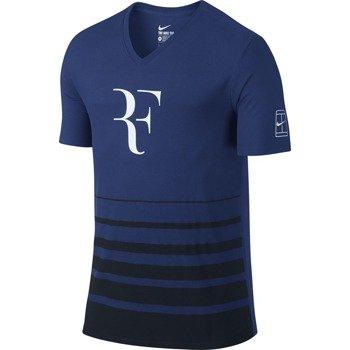 koszulka tenisowa męska NIKE ROGER SHORTSLEEVE V-NECK TEE / 777865-455