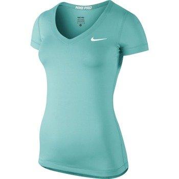 koszulka termoaktywna damska NIKE PRO SHORTSLEEVE V-NECK / 589370-466