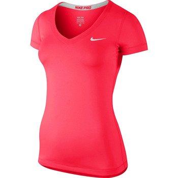 koszulka termoaktywna damska NIKE PRO SHORTSLEEVE V-NECK / 589370-603