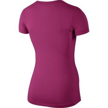 koszulka termoaktywna damska NIKE PRO SHORTSLEEVE V-NECK / 589370-618