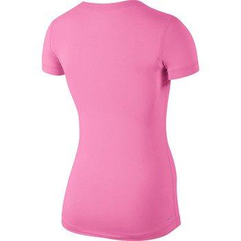 koszulka termoaktywna damska NIKE PRO SHORTSLEEVE V-NECK / 589370-682
