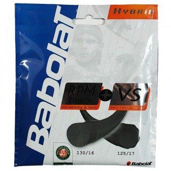 naciąg tenisowy BABOLAT Hybrydowy RPM Blast + VS Black