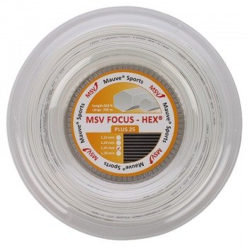 naciąg tenisowy MSV FOCUS HEX PLUS 25 200M WHITE
