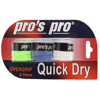 owijki tenisowe PRO'S PRO  QUICK DRY OVERGRIP x3 0,70MM / TOPP-090