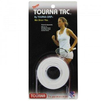 owijki tenisowe TOURNA TAC GRIP WHITE GRIPS X3 XL/0,65