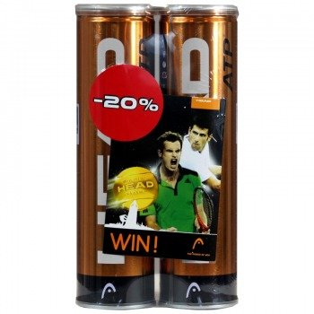 piłki tenisowe HEAD ATP GOLD 2X 4SZT.