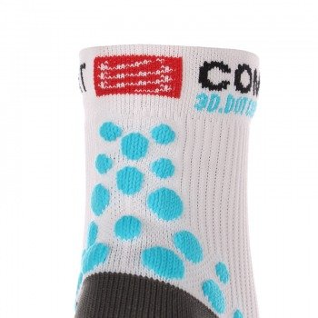 skarpety kompresyjne COMPRESSPORT RUN PRO RACING SOCKS 3D.DOT HIGH-CUT (1 para) / RSH WHITE-BLUE 11319-204
