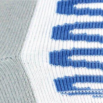 skarpety sportowe REEBOK ZIG SOCK white/flat grey/buff blue (1 para) / O42507