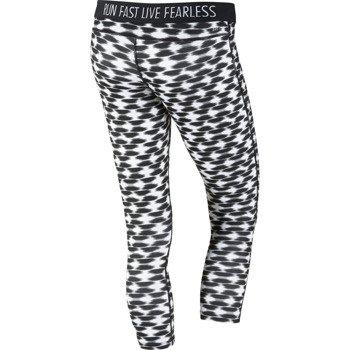 spodnie do biegania damskie 3/4 NIKE PRINTED RELAY CROP / 645610-011