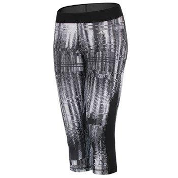 spodnie sportowe damskie 3/4 ADIDAS GO TO GEAR TECHFIT CAPRI ALLOVER PRINTED / AA7211