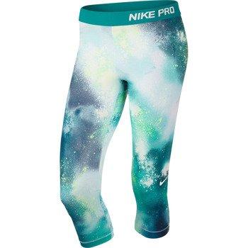 spodnie sportowe damskie 3/4 NIKE PRO SPLATTER CAPRI / 630608-383