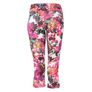 spodnie sportowe damskie ADIDAS ULTIMATE FIT 3/4 TIGHT FLOWER / AJ5031