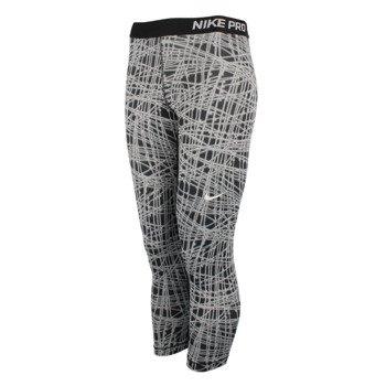 spodnie termoaktywne damskie 3/4 NIKE PRO COOL TRACER CAPRI / 812063-010