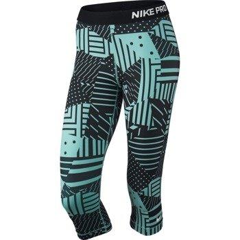 spodnie termoaktywne damskie 3/4 NIKE PRO PATCH WORK CAPRI / 689832-466