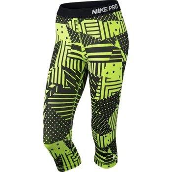 spodnie termoaktywne damskie 3/4 NIKE PRO PATCH WORK CAPRI / 689832-702