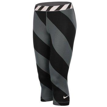 spodnie termoaktywne damskie 3/4 NIKE PRO PRINTED CAPRI / 708281-494