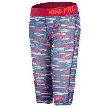 spodnie termoaktywne dziewczęce 3/4 NIKE PRO GFX CAPRI / 678473-616
